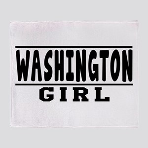 Washington Girl Designs Throw Blanket