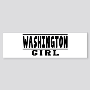 Washington Girl Designs Sticker (Bumper)