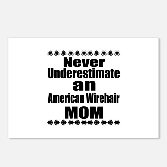Never Underestimate ameri Postcards (Package of 8)