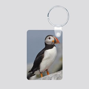 Puffin Aluminum Photo Keychain