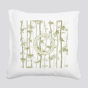 Inspirational Trees Quote Square Canvas Pillow