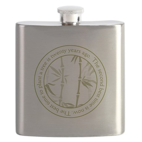Inspirational Trees Quote Flask