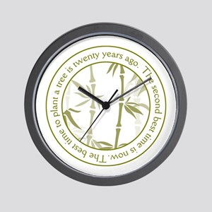 Inspirational Trees Quote Wall Clock