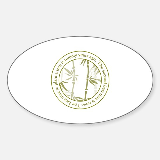 Inspirational Trees Quote Sticker (Oval)