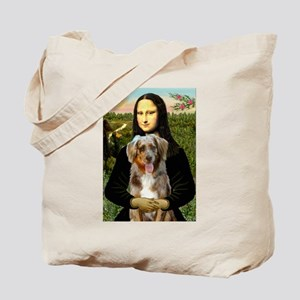 Mona's Red Merle Aussie (M) Tote Bag