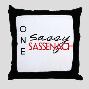 Sassy Sassenach Throw Pillow