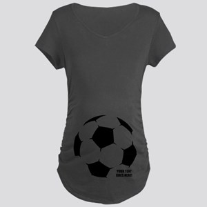 Personalized Soccer Maternity T-Shirt