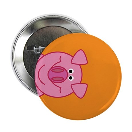 """Happy Pig 2.25"""" Button (10 pack)"""