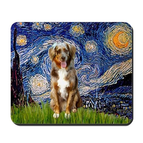 Starry Night Aussie (RM) Mousepad