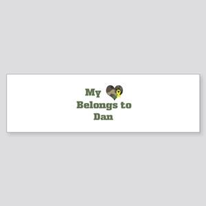 Dan: My Heart Bumper Sticker