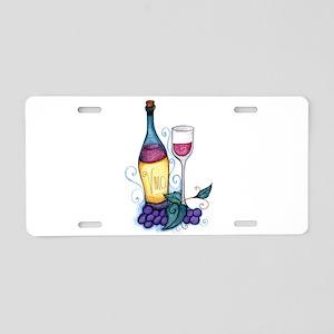 Wine Lover's Vino Aluminum License Plate