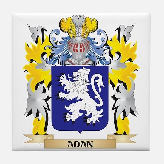 Adan Coat of Arms - Family Crest Tile Coaster