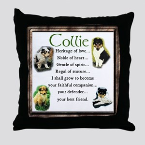 Collie Heritage Gifts Throw Pillow