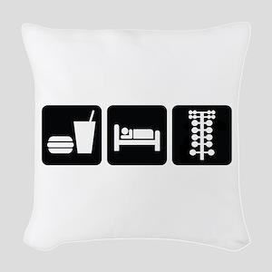 Eat Sleep Drag Woven Throw Pillow