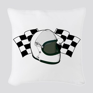 Helmet & Flags Woven Throw Pillow