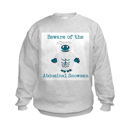 Abdominal Snowman Kids Sweatshirt