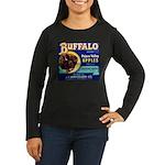 Buffalo Brand #2 Women's Long Sleeve Dark T-Shirt
