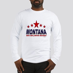 Montana Big Sky, Huge Heart Long Sleeve T-Shirt