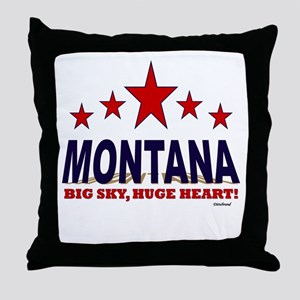 Montana Big Sky, Huge Heart Throw Pillow