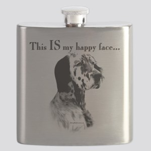 Englilsh Setter Happy Face Flask
