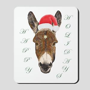 Santa Donkey! Mousepad