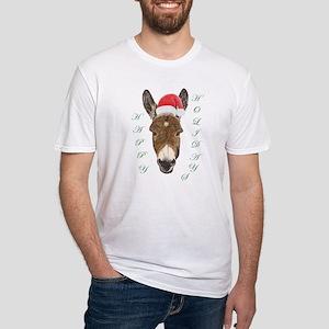 Santa Donkey! Fitted T-Shirt