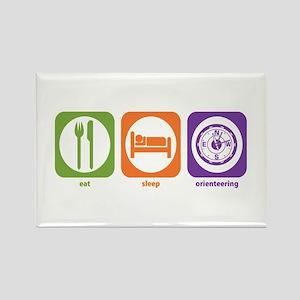 Eat Sleep Orienteering Rectangle Magnet