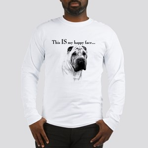 Chinese Sharpei Happy Face Long Sleeve T-Shirt