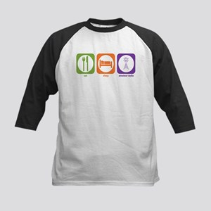 Eat Sleep Radio Kids Baseball Jersey