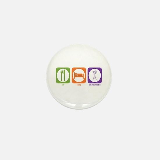 Eat Sleep Radio Mini Button