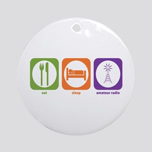 Eat Sleep Radio Ornament (Round)