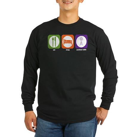 Eat Sleep Radio Long Sleeve Dark T-Shirt
