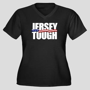 Jersey Strong Women's Plus Size V-Neck Dark T-Shir