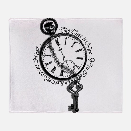 The Time is Now! Design Throw Blanket