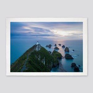 Nugget point lighthouse 5'x7'Area Rug