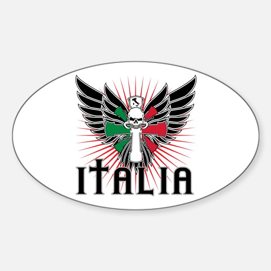 Italian Pride Sticker (Oval)
