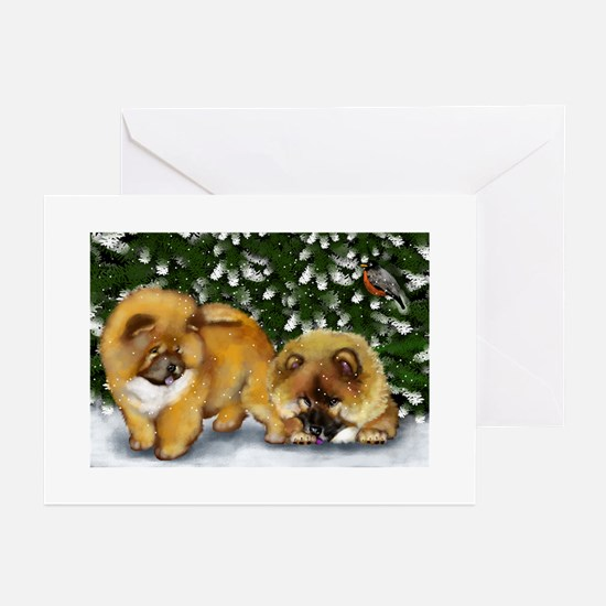 CHOW CHOW DOGS Greeting Cards