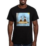 Bald Eagle Wig Men's Fitted T-Shirt (dark)