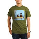 Bald Eagle Wig Organic Men's T-Shirt (dark)