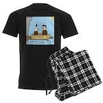 Bald Eagle Wig Men's Dark Pajamas