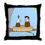 Bald Eagle Wig Throw Pillow