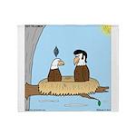 Bald Eagle Wig Throw Blanket