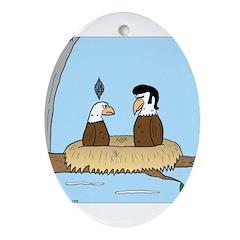 Bald Eagle Wig Ornament (Oval)