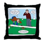 Beaver Bad Day Throw Pillow