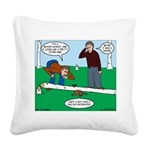 Beaver Bad Day Square Canvas Pillow