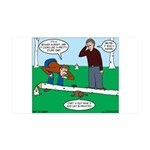 Beaver Bad Day 35x21 Wall Decal