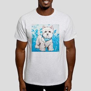 Westie Blues Ash Grey T-Shirt