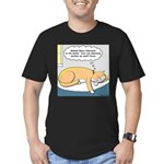 Polar Bears and Reindeer Men's Fitted T-Shirt (dar