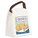 Polar Bears and Reindeer Canvas Lunch Bag