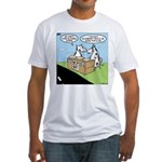 Cow Pies Fitted T-Shirt